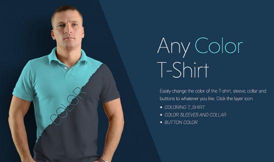Man Polo T shirt Mockup