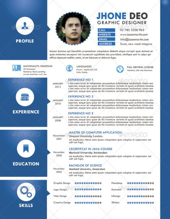 Graphic Resume psd and word