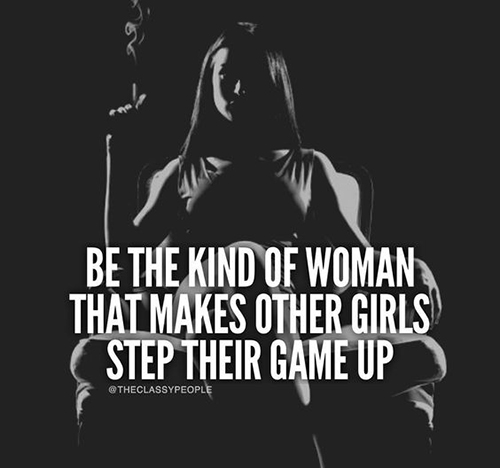 be kind of a woman
