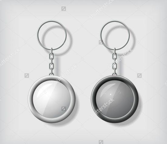 Blank-Round-Keychain-Mockup