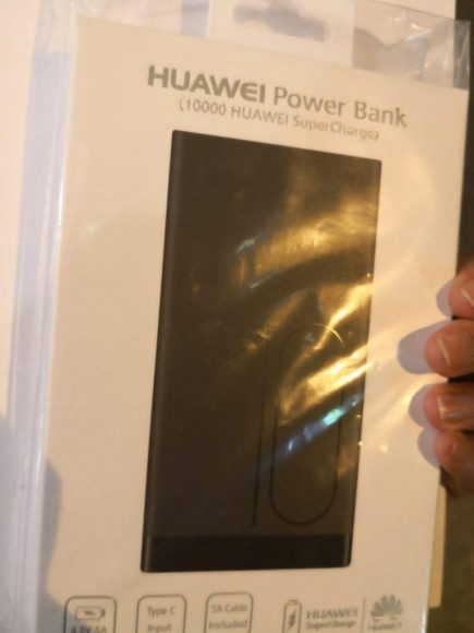 The free power bank from Huawei.