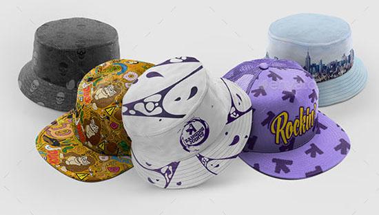Cap Bucket Hat Mockup Bundle 2