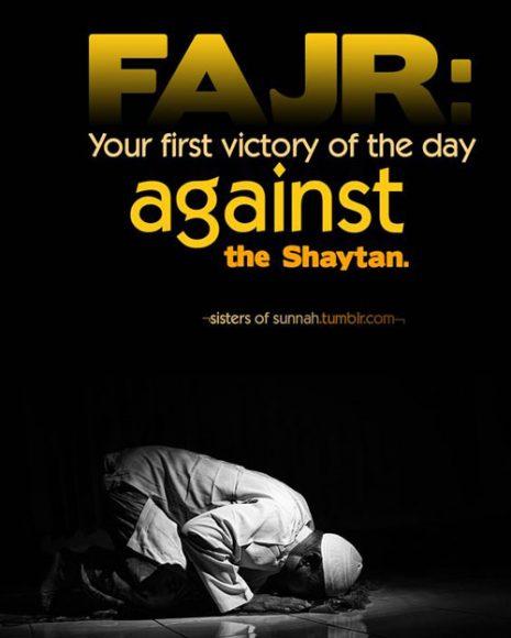 fajr against shaytan