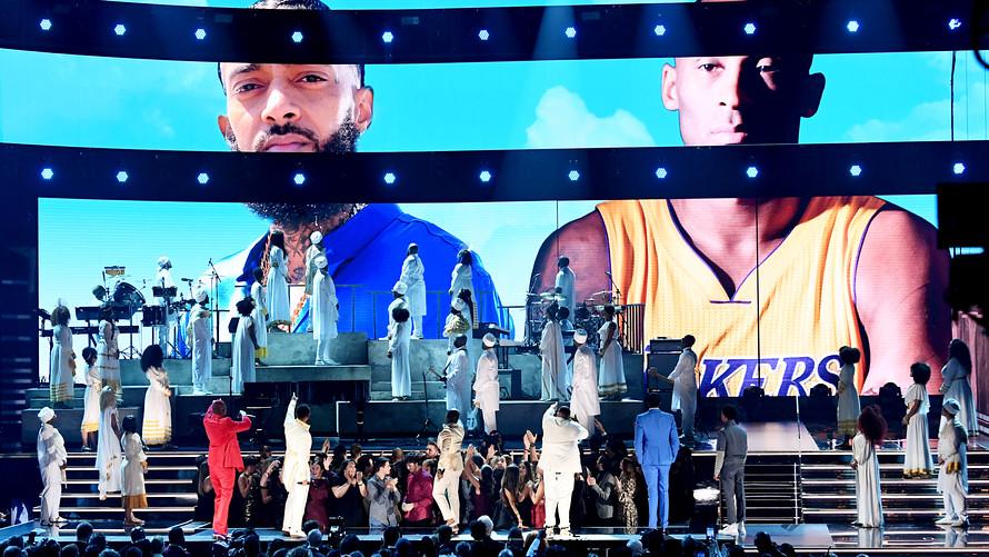 Tributos ao rapper Nipsey Hussle e o ex-jogador de basquete Kobe Bryant - Getty Images / Jeff Kravitz / FilmMagic