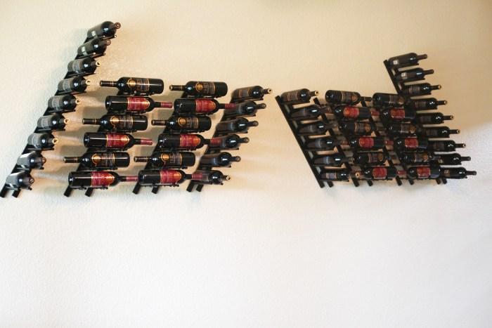 Angled-C4 Wine Wall Rails