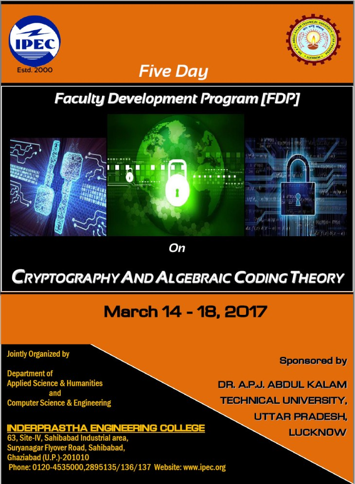 Five Day Faculty Development program on Cryptography and