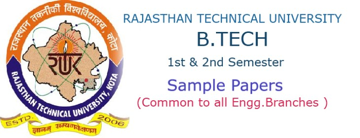 RTU B Tech First Year Sample Papers Free Download – Ululu