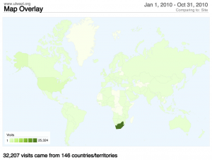 Geographic location of our visitors