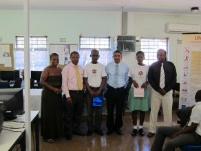 The top two students with teachers and mentors