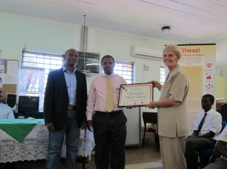 The School receives their certificate