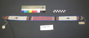 Object number E1905.515 in the Museum of Archaeology and Anthropology in Cambridge: A woman's beaded belt collected by Alfred Cort Haddon in 1905 while on the British Association for the Advancement of Science Tour of South Africa most probably on 26 August at Laduma kaTetelegu's homestead near Swartkops, in what was then the Colony of Natal.
