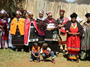 Chiefs & Kings wives at the Zulu Reed Dance