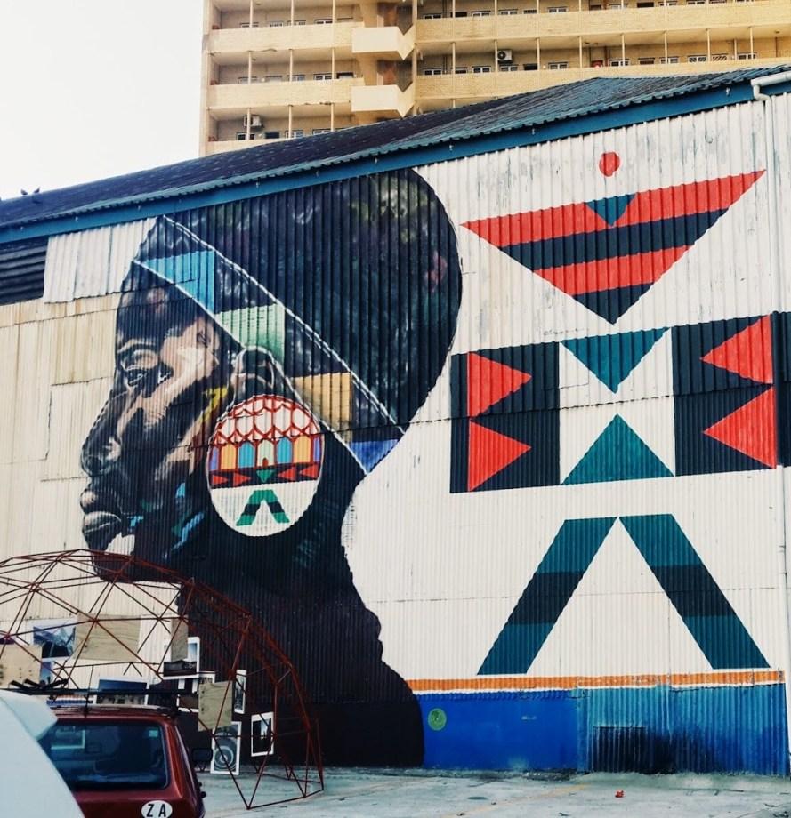 A mural in Rivertown, Durban