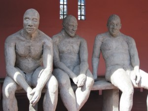 Sculpture on display at the KwaMuhle Museum