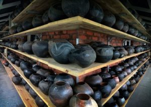 Zulu clay pots at the Phansi Museum