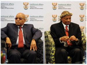 President Zuma and Kgosi Maubane, chairperson of the National House of Traditional Leaders, 29th May 2017