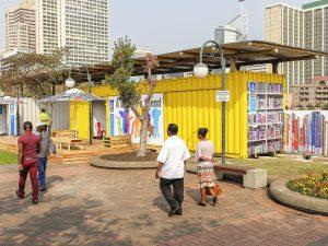 Semi-permanent library structures in Durban's CBD