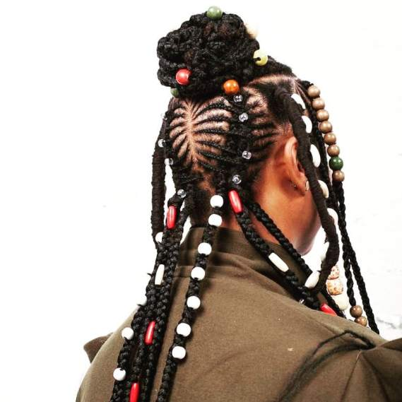 Contemporary Zulu hairstyle
