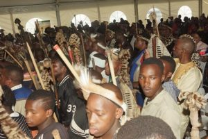Young Zulu initiates (Amakrwala) from the greater Kokstad area