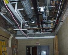 200202 - 1st floor - ceiling demo above ceiling mechanical work