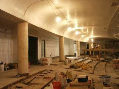 Back of main floor seating area looking west