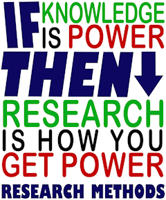 If knowledge is power then research is how you get power