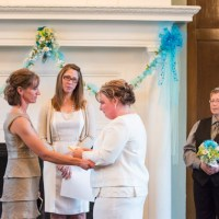 Christy and Renee - University Club lesbian wedding photography