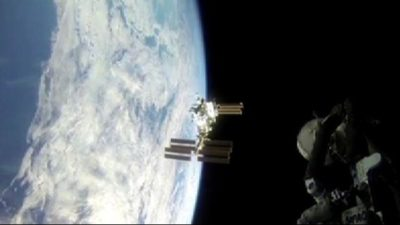 Spazio: L'attracco della Soyuz alla Iss visto dagli astronauti