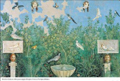 affresco romano giardino mito e natura