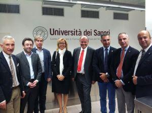 Francesco De Angelis visita l'Università dei sapori di Perugia