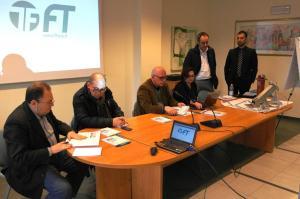 Da sinistra Gianfranco Chiacchieroni, Alfio Todini, Stefano Vinti, Patrizia Macaluso, Paolo Zappi, Federico Lini