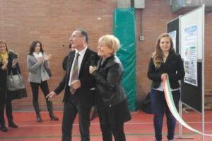 Rita Coccia e Paolo Vescarelli al taglio del nastro