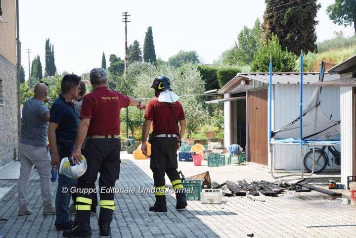 Esplosione Colombella, indagini sulla bombola a gas, al via i sequestri