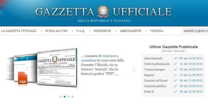 Gazzetta Ufficiale, pubblicato bando per 94 assunzioni triennali