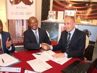 Promuovere e sostenere lo sviluppo della filiera cacao e cioccolato. Con questo obiettivo è stata sottoscritta questa mattina la partnership fra Eurochocolate e DGCSP, Direzione Generale delle Casse di Stabilizzazione e Perequazione, il braccio operativo del Ministero dello Sviluppo sostenibile e dell'Economia del Gabon.