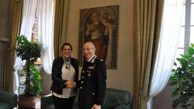 Presidente Marini incontra comandante Carabinieri, Francesco Benedetto