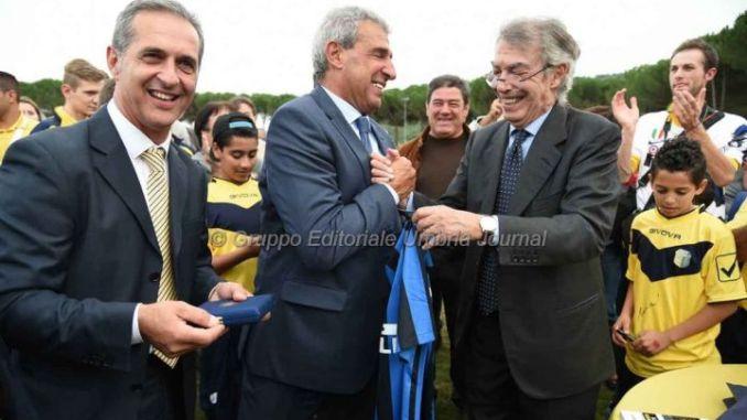 Massimo Moratti a Tavernelle per inaugurazione impianto sportivo intitolato al padre