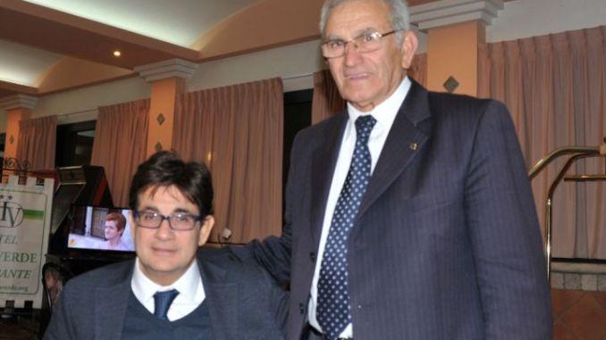 Luca Pancalli con Francesco Emanuele