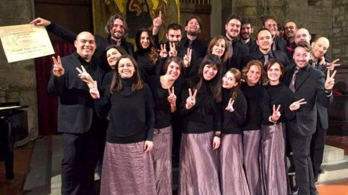 Ensemble Libercantus di Perugia trionfa ad Arezzo