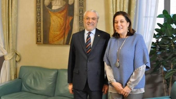 Catiuscia Marini incontra prefetto di Perugia, Raffaele Cannizzaro