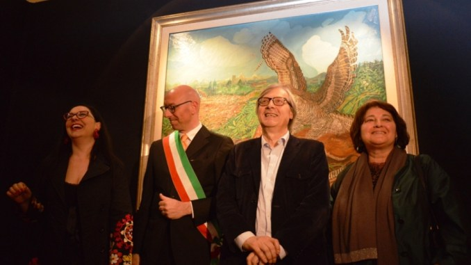 Da sinistra Monacelli, Presciutti, Sgarbi, Cecchini