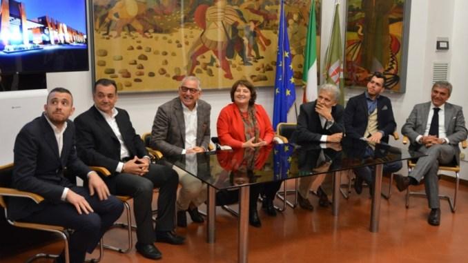 Da sinistra Luca Grigi, Marco Grigi, Luciano Grigi, Fernanda Cecchini, Marcello Nasini, Daniele Grigi, Luigi Frenguellotti (1)