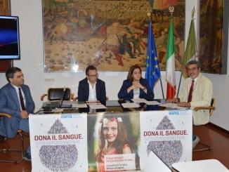 Da sinistra, Andrea Motti, Mauro Marchesi, Catiuscia Marini, Giovanni Magara