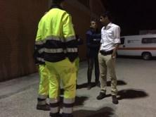 Il Sindaco Romizi saluta i volontari di Perugia