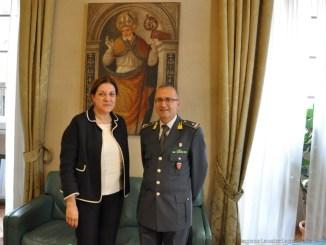 Finanza, Presidente Marini riceve nuovo comandante Umbria, generale Sebaste