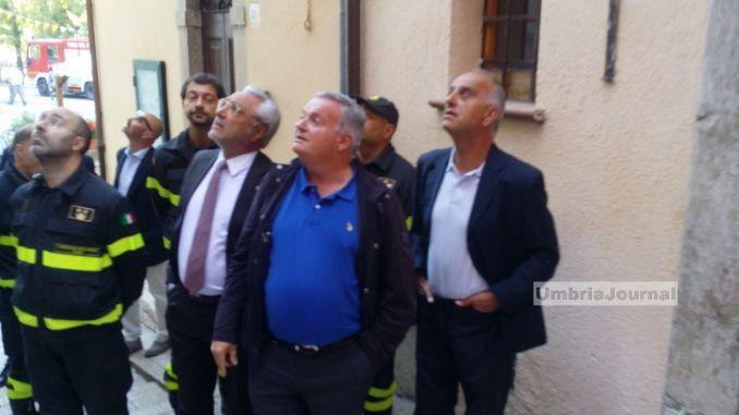 Terremoto, Preci è in emergenza punto in occasione visita Mattarella