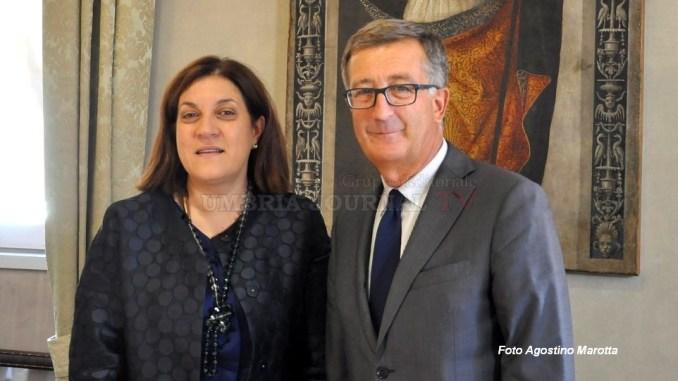 Saluto della Presidente Marini al questore Carmelo Gugliotta