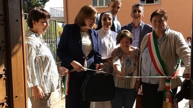 Catiuscia Marini all'inaugurazione dei nuovi laboratori del Centro Speranza