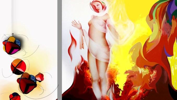 L'opera di Marisa Korzeniecki 'Signora del fuoco' (2014)
