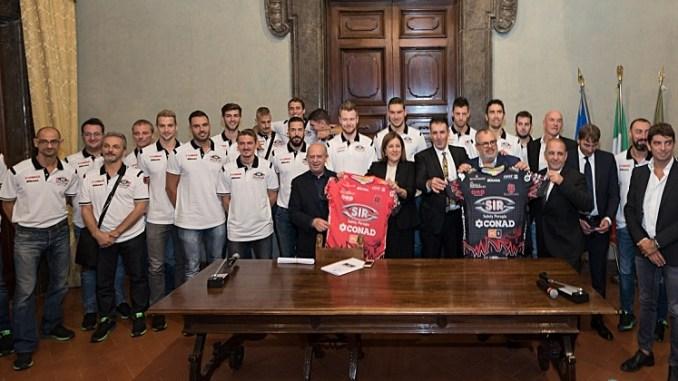 A Palazzo Donini Presentate anche le nuove maglie della Sir Safety Conad Perugia